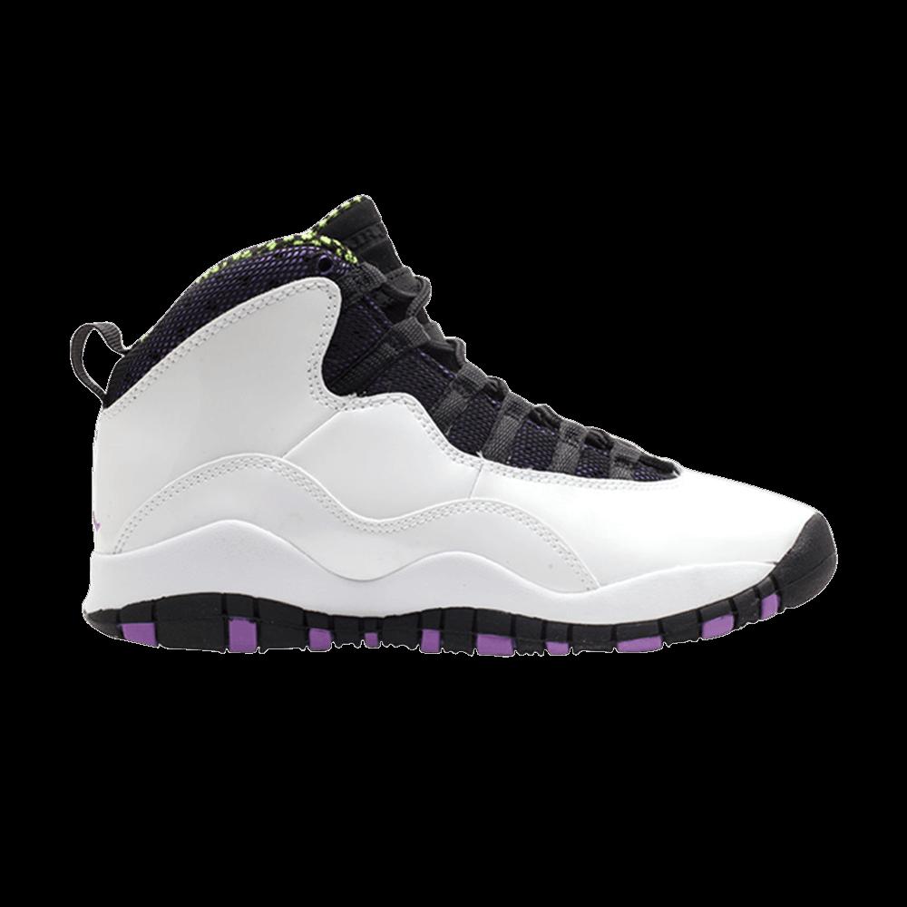 Image of Air Jordan 10 Retro GG Violet Pop (487211-120)