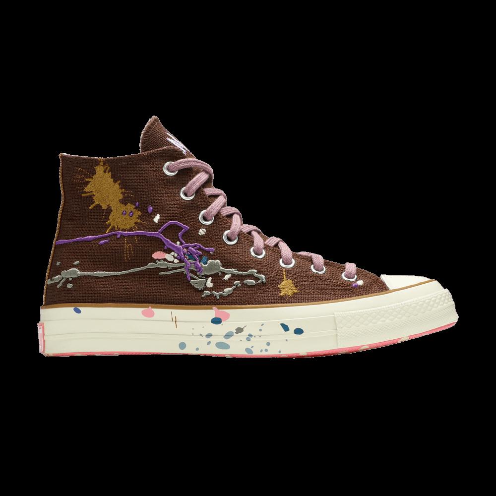 Image of Converse Bandulu x Chuck 70 High Paint Splatter - Cappuccino Base (169909C)