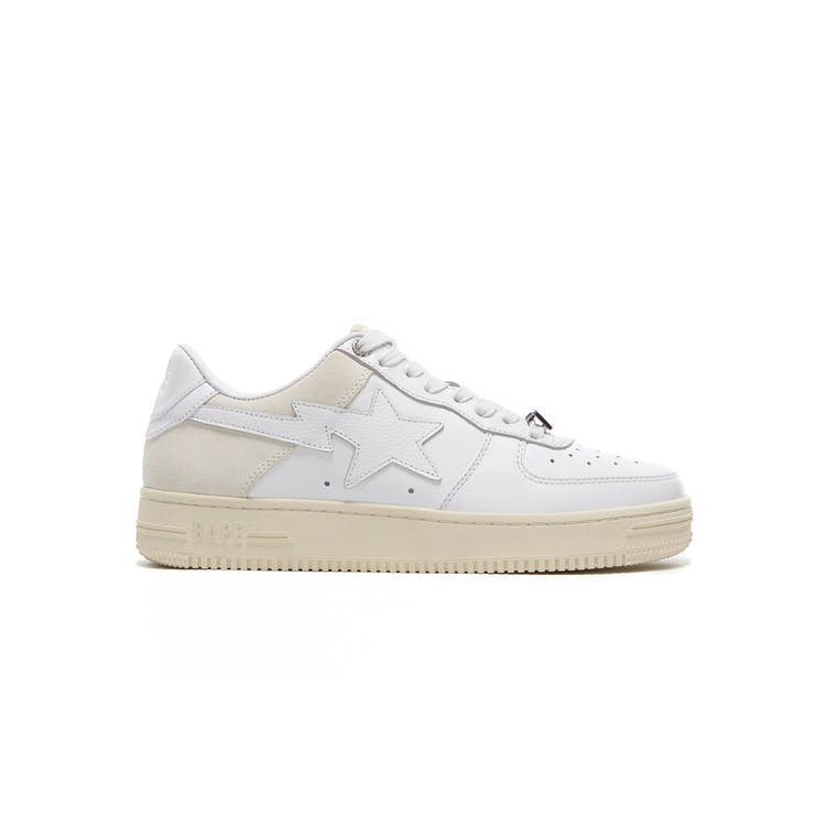Image of A Bathing Ape Bape Sta Low Suede Heel White